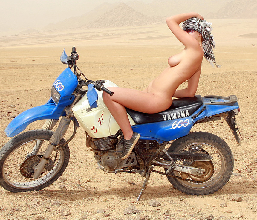 Pussy naked chicks on dirt bike pics public